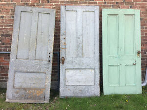 Vintage doors and retro chairs