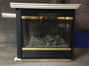 3 sided Vermont Castings gas fireplace