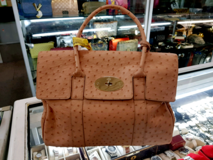 e3ddc49f94 ... clearance mulberry bayswater satchel ostrich handbag authentic on sale  8c01c 05df4