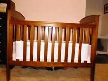 Abbey Road Walnut Cot & other things bubs needs for sale Ridgehaven Tea Tree Gully Area Preview