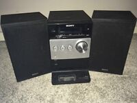 Sony Stereo CD player and (iPhone 4 dock) with remote