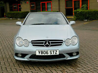 2006 06 Mercedes-Benz CLK 5.4 CLK55 AMG 2dr WITH FSH+SATNAV+H/K SOUND+MORE