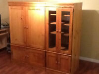 Oak TV and Audio Cabinet - in Sackville