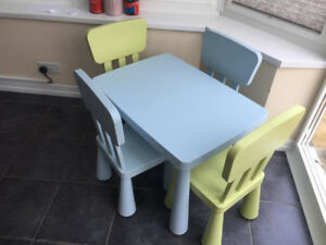 IKEA Mammut kids table and two chairs