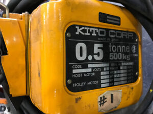 1000lbs (500kg) Kito Electric Budgit Hoist