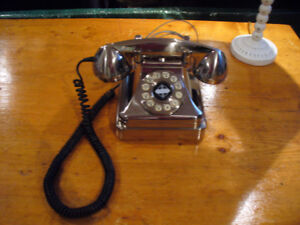 Vintage Silver Rotary Style Telephones