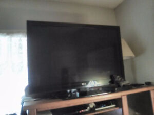 50 inch lg TV  and  blue ray DVD  player