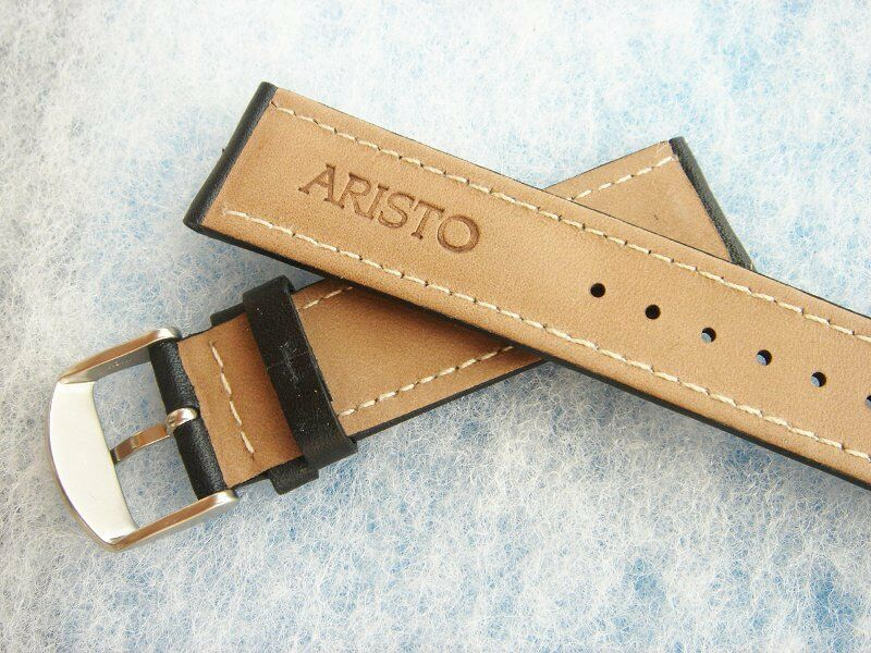 ARISTO Germany ― 18 20 22mm Leather Watch Straps ― Black or Brown