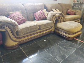 3 and 2 fabric sofas