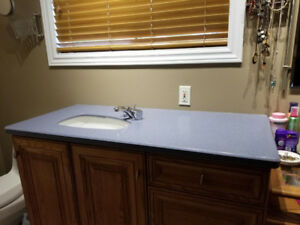 Countertop, solid surface with faucet