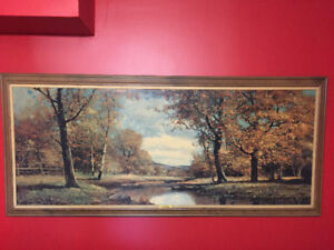 Stunning LARGE, Full-Wall Acrylic Framed Painting