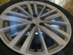 4 17 INCH RIMS OFF SUBARU IMPREZA LIKE NEW NEVER WINTER DRIVEN