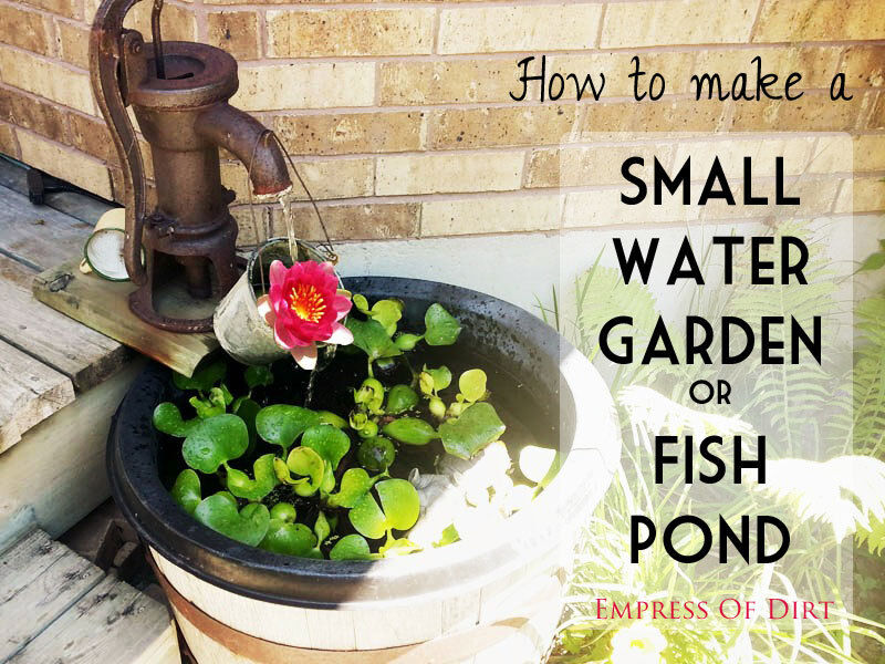 How to make a small water garden or fish pond ebay for Making a water garden