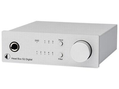 PRO JECT HEAD BOX S2 DIGITAL SILVER AMPLIFICATORE PER CUFFIE DSD DAC...