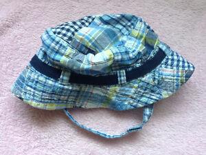 0-6 month plaid sun hat