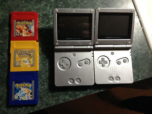 2 Gameboy SP and Pokèmon Games