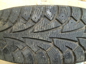 Hankook i Pike Winter tires and rims 175/65R14 Kawartha Lakes Peterborough Area image 2
