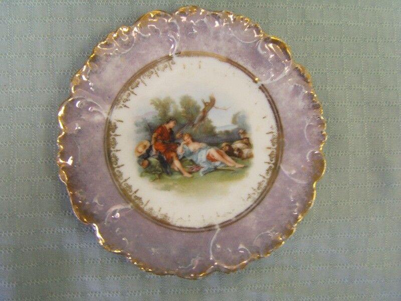 "Antique Victorian Lewis Strauss Austrian Carlsbad China Plate 6"" diameter GUC"