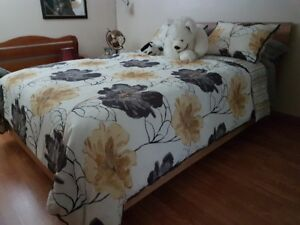 Queen Size Bed+side table