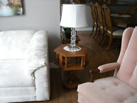 Pair of solid roxton end tables