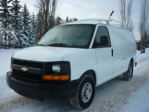 2011 Chevrolet Express 2500 cargo van ROOF RACK/PARTITION