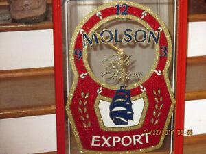 Molson Export Mirrored Clock.