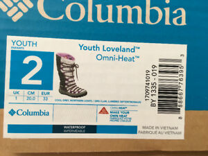 Girls Columbia boots