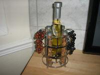 oil and herb glass grapes kichen decor