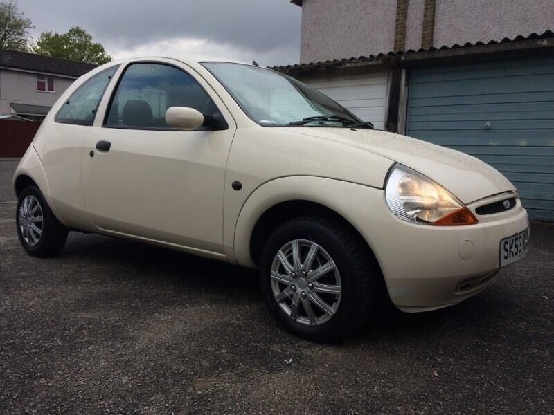 Very Clean Customised  Ford Ka In Cream Full Leather  Miles Look No Rust