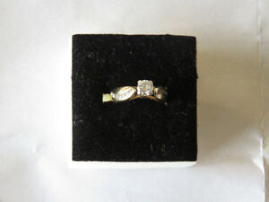 .50ct Wedding ring with .30ct Engagement ring 14kt yellow gold