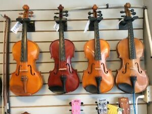 Reconditioned full-size USED VIOLINS FIDDLES at Dockside Music