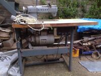 Singer Industrial Sewing Machine 388K145 - for sail-making etc . Complete with table. K Series