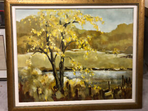 Canadian Modern Landscape Painting by Sally Durie Listed Artist