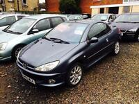 Peugeot 206 cc diesel 1.6 hdi convertible 55 reg long mot excellent condition 50 mpg