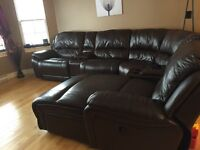 6 pieces leather sectional