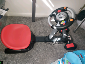 Retro plug in racing games chair