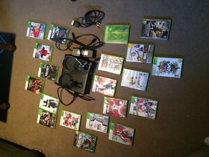 X box 360 console and 20 games