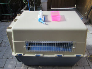 NEW EXTRA LARGE DURABLE PLASTIC DOG CRATE FOR SALE