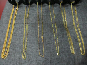 18k gold filled - 18 inch chains $20 each