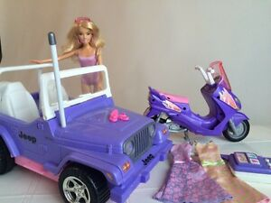 Barbie, Jeep & Scooter