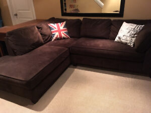 Brown Sectional Sofa, great condition