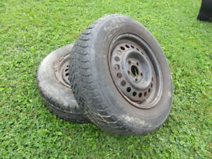 Studded winter tires - 195/70 R14 91T