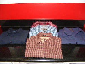 Mens Name Brand 5 Shirt Lot. Size Medium & Large