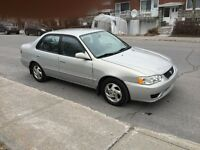 COROLLA 2002 SPECIALE, AUTOMATIQUE,CLIMATISE,TOUT EQUIPE,A1++++1