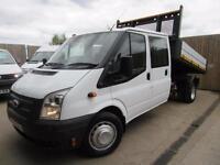 FORD TRANSIT DOUBLE CAB TIPPER 2.2 TDCI T350 2012 LWB EU5 FSH VGC
