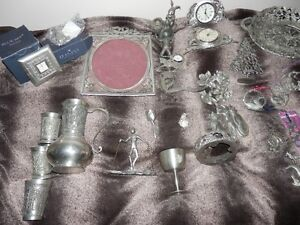 LARGE SELECTION OF PEWTER ITEMS