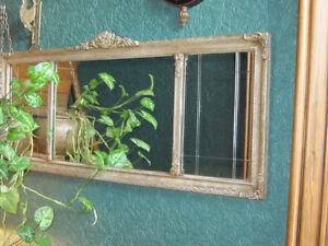 Antique Gesso Mantel Etched Mirror for Sale Oakville / Halton Region Toronto (GTA) image 2