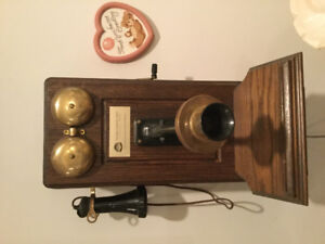 Vintage antique phone for wall.