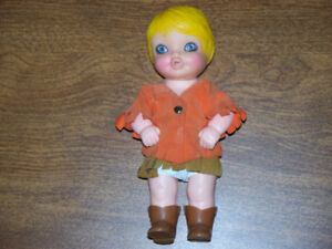 2 Vintage Rootin Tootin Baby Cowgirl Dolls –one shown in picture