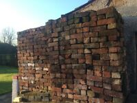 "Reclaimed Cheshire Brick 3"" cleaned. 50p per brick"
